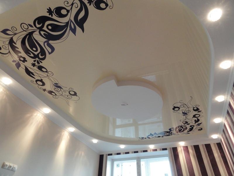 натяжной потолок с фото рисунком